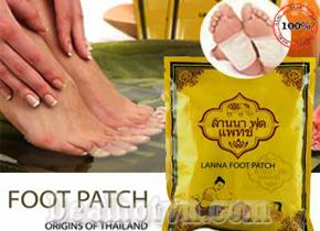 Miếng Dán Thải Độc Bàn Chân Lanna Foot Patch hàng nhập khẩu từ Thái Lan bịch 10 miếng giá 70.000đ