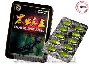 Black Ant King Herbal Nam Libido Thuốc tăng cường tình dục Nam hàng chính hãng hộp 10 viên giá 210.000đ