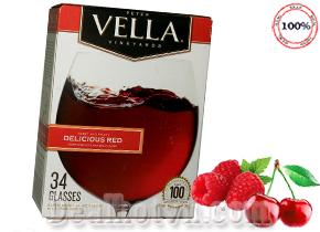 Rượu vang Peter Vella Delicious Red 5 lít hàng nhập từ Mỹ. Giá 530.000đ