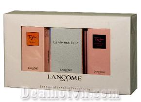 Nước hoa Lancôme – Kho báu chứa đựng ký ức ngát hương của người phụ nữ trưởng thành. Sét 3 chai giá 160.000đ.