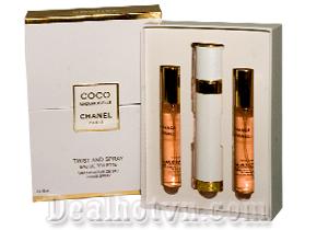 Sở hữu mùi hương ngọt ngào, quyến rũ cùng 3 chai nước hoa Chanel Coco Mademoiselle hộp gỗ dành cho nữ (18ml/chai) chỉ với 150.000đ. Sản phẩm với giá hấp dẫn bất ngờ chỉ có tại Dealhotvn.com!
