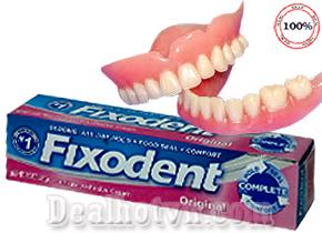 Keo dán hàm răng giả Fixodent 68gr – USA