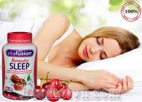 Kẹo Dẻo Hỗ Trợ Điều Trị Mất Ngủ Vitafusion Beauty Sleep Gummies hộp 90 viên hàng nhập từ Mỹ. Giá 480.000đ
