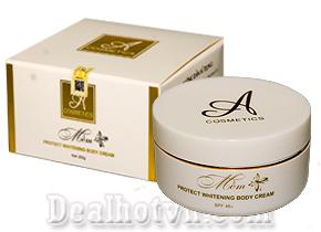 Kem dưỡng trắng da body mềm A Cosmetics ( hàng công ty)  giúp dưỡng trắng da toàn thân sau 1 tuần sử dụng. Giá 105.000đ