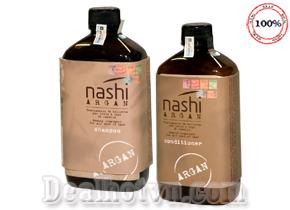 Cặp dầu gội/xả dưỡng phục hồi tóc hư tổn Nashi Argan 500ml/ chai hàng nhập từ Ý. Giá 260.000đ