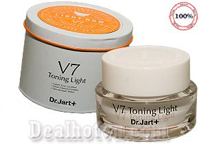 Kem dưỡng trắng và tái tạo da, mờ nám, se khít lỗ chân lông, ngăn ngừa mụn V7 Toning Light  Dr. Jart + -  Hàn Quốc. Giá 115.000đ