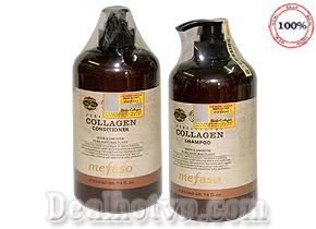 Bộ dầu gội xả ( 850ml x2) ngăn ngừa rụng tóc, phục hồi tóc hư tổn Collagen Mefaso hàng nhập khẩu từ Ý. Giá 300.000đ
