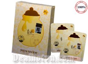Mặt Nạ Chiết Xuất Mật Ong Dưỡng Trắng Da Papa Recipe Bombee Whitening Honey Mask Pack – chính hãng Hàn quốc. Hộp 10 miếng  giá 90.000đ.