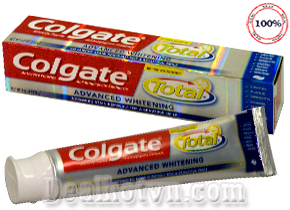 Kem đánh răng Colgate Total advanced Whitening đang hot tại Mỹ. Kem có chất tẩy trắng  nhìn thấy sau 07 Ngày. 226gr Chỉ 125.000đ