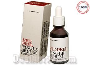Tinh Chất Tái Tạo Thay Da Sinh Học So Natural Red Peel Tingle Serum 30ml hàng chính hãng Hàn Quốc. Phục hồi da bị tổn thương một cách thần kì sau 1 tuần sử dụng. Giá 410.000đ