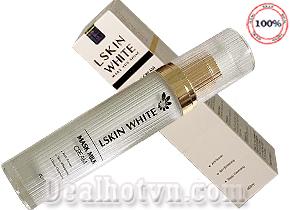 Kem Ủ Trắng Da Mặt Kén Tằm Lskin White Mask Milk 60ml - Đan Thi Cosmetic. Cam kết da bạn trắng ngời sau 01 tuần sử dụng. Giá 165.000đ.