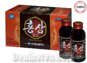 Lốc 10 Chai Nước Uống Hồng Sâm Gold - Hàn Quốc