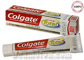 Kem đánh răng Colgate Total Clean mint đang hot tại Mỹ. Kem có chất tẩy trắng nhìn thấy sau 07 Ngày. 221gr Chỉ 108.000đ