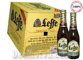 Bia chai Leffe vàng 330ml ( thùng 24 chai) – NK Bỉ