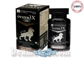 Oyster 3X hàng nhập khẩu Mỹ giúp tăng cường sản sinh hormon sinh dục nam, cải thiện sinh lý, tăng cường sinh lực nam, làm chậm mãn dục sớm, thành phần tự nhiên, hộp 40 viên. Giá 450.000đ