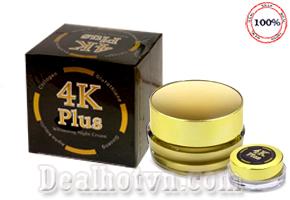 Kem 4K Plus chính hãngThái Lan Whitening Night Cream giúp da trắng sáng căng mịn sau 1 lần sử dụng. Giá 160.000đ