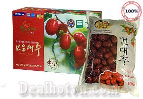 Táo đỏ sấy khô Hàn Quốc 1kg – Nhập khẩu từ Korea ngon và bổ dưỡng, cần thiết cho thai phụ. Giá 180.000đ