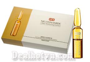 Set 7 tuýp Serum NICOTINAMIDE cao cấp giúp trị mụn, xóa mờ nếp nhăn và cải thiện các dấu hiệu lão hóa. Giá 75.000đ