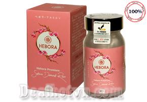 Viên uống Hebora hàng chính hãng Nhật Bản là sự kết hợp giữa tinh chất của hoa anh đào, tinh chất hoa anh thảo, tinh chất hoa hồng Bulgari, tinh chất hoa rum, hỗ trợ tạo hương thơm, làm đẹp da từ bên trong. Giá 1.050.000đ