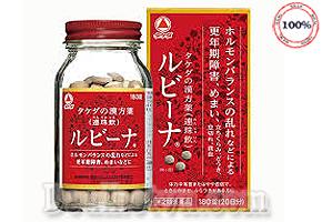 Viên uống bổ máu Rubina Nhật Bản hỗ trợ tích cực cho người thiếu máu, phụ nữ mãn kinh bị bốc hỏa, ớn lạnh, nhức đầu, chóng mặt, mất ngủ, tê tay chân. Thành phần chiết xuất thảo dược thiên nhiên an toàn cho sức khỏe. Giá 560.000đ.