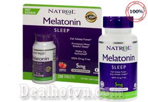 Viên ngậm Natrol Melatonin Sleep 5mg 250 viên của Mỹ - Liệu pháp hiệu quả giúp ngủ ngon và sâu giấc. Giá 360.000đ