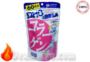 Collagen DHC dạng viên hàng chính hãng Nhật Bản giúp tăng cường độ đàn hồi cho da, làm chậm lão hóa, da sẽ trở lên căng mịn, trẻ trung đầy sức sống...Giá 320.000đ.