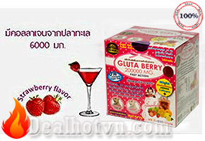 Gluta Berry 200000 Mg Glutathione Làm Trắng Da Giảm Béo – Thái Lan