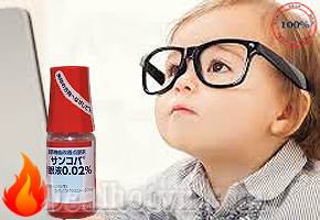 Thuốc nhỏ mắt Sancoba Santen chữa cận thị và chống cận thị - Nhật Bản