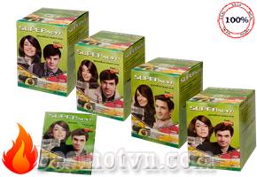 Combo 4 gói dầu gội nhuộm tóc phủ bạc Super Nova