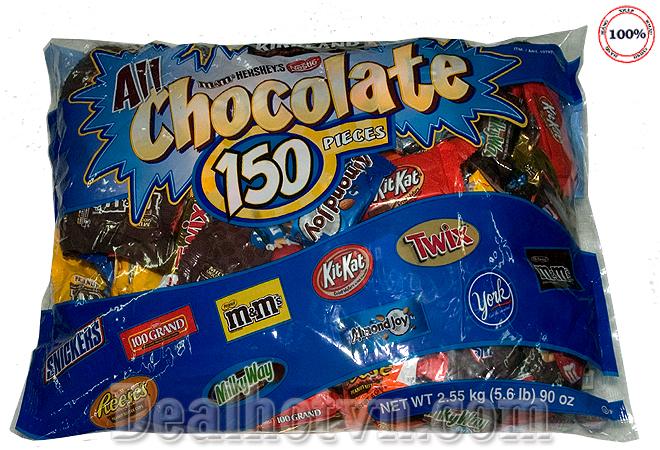 Combo 30 viên Kẹo Chocolate tổng hợp nhập khẩu từ Mỹ. Giá 140.000đ giao hàng tận nơi.