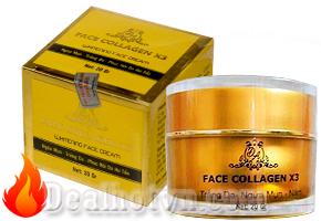 Kem face collagen X3 - ngừa nám, giảm mụn và làm trắng da