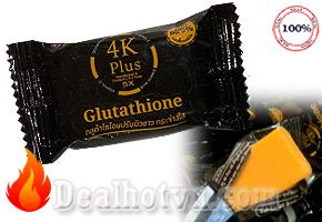 Xà phòng 4K Plus 5X Glutathione - Thái Lan ( trị mụn - trắng da)