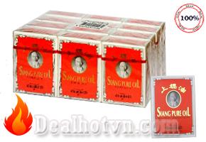 Combo 06 chai dầu gió hàng nhập khẩu Thái Lan hiệu Siang pure oil (3cc) giải tỏa triệu chứng nhức đầu, chóng mặt, đau lưng, thấp khớp, bong trật gân....Giá 105.000đ/6 chai, Chỉ có tại Dealhotvn.com