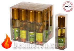 Lố 12 chai dầu lăn sâm thảo dược Green Herb Oil - Thái Lan